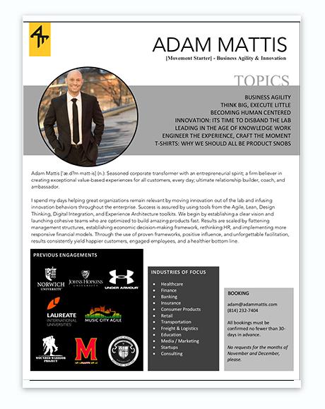 Adam Mattis: Speaker Bio