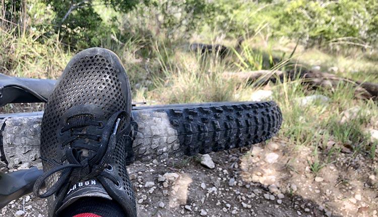 NoBull Trainer on the mountain bike trail