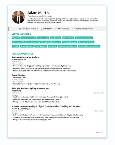 Adam Mattis: Resume